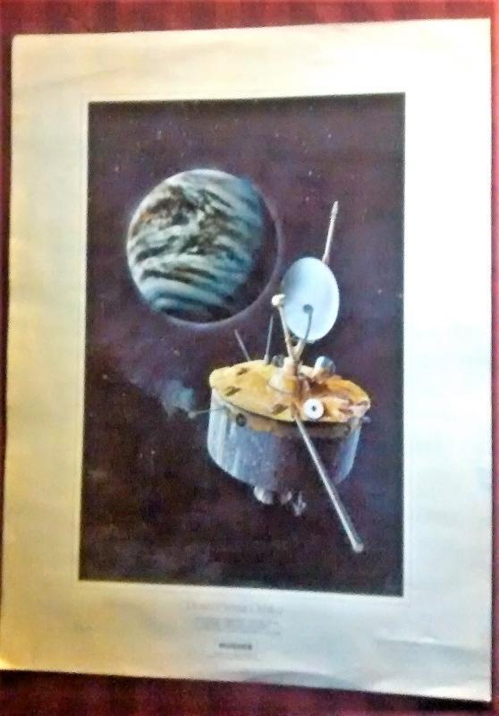 Vintage Hughes Aircraft Pioneer Venus Orbiter Poster Ames 1970s 18