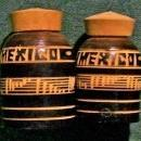 Mexican Chip-Carved Wooden Salt/Pepper Shakers 2 Pair Conga Drums