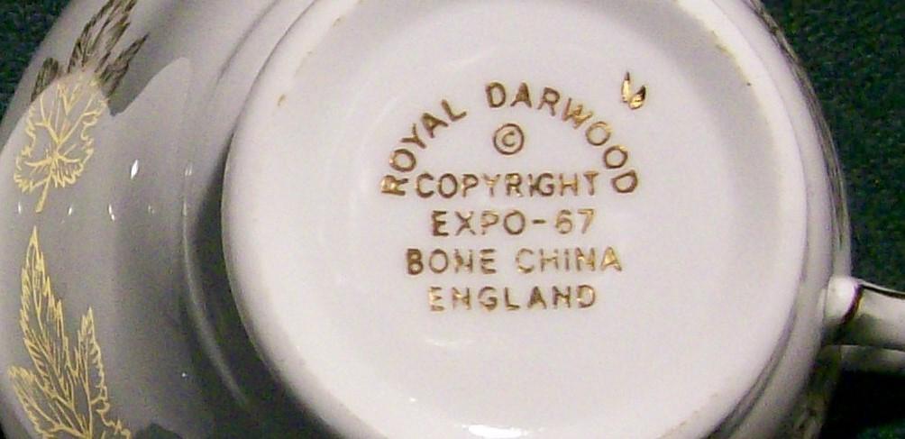 Vintage EXPO 67 Souvenir Cup Only Montreal Canada Royal Darwood Bone China