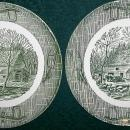 Vintage Scio Currier & Ives Plate Pair 9.25