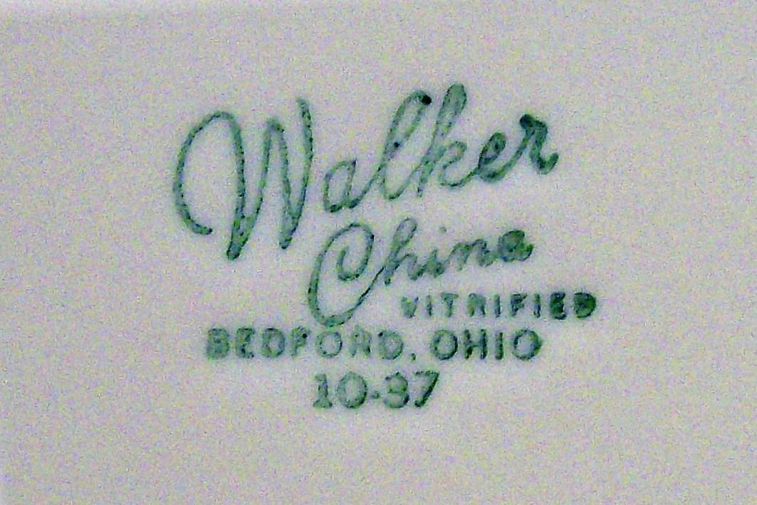 Vintage Walker Fantasy 2 Restaurant Chop Plate 11.5