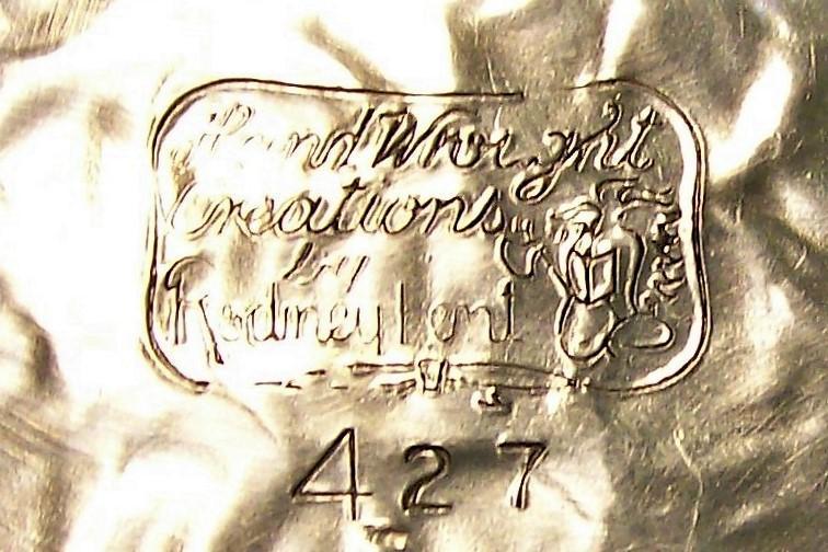 Vintage Rodney KentTulip Silent Butler/Crumb Dish #427 Hand-Wrought Aluminum