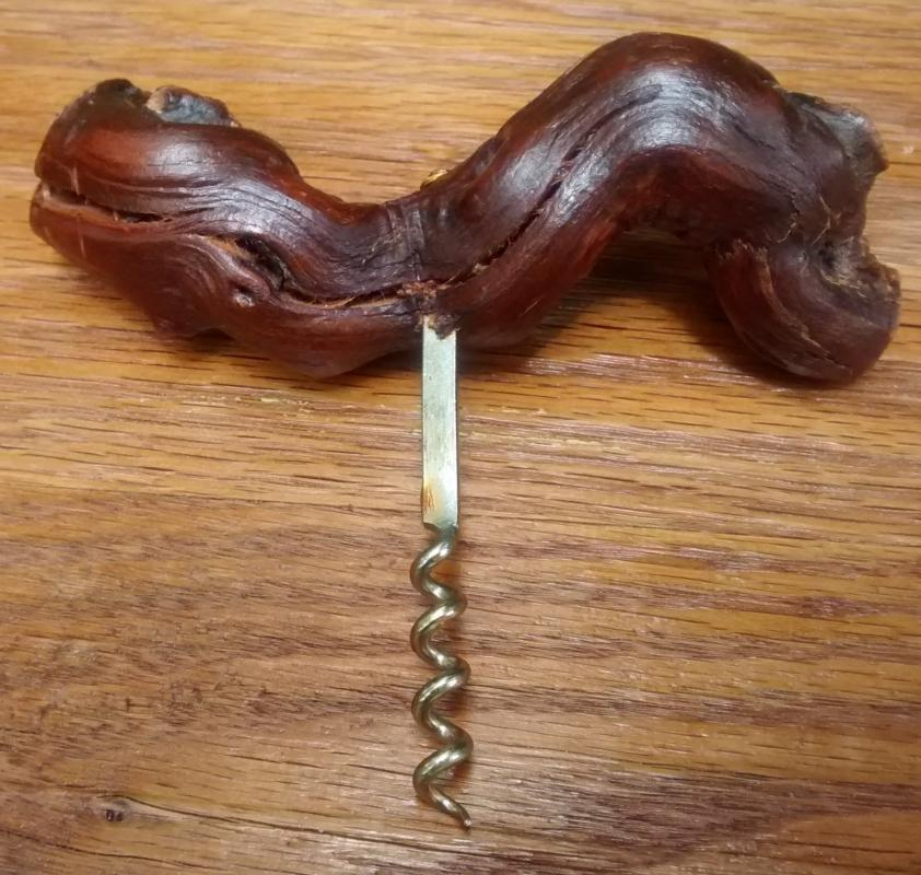 Vintage Corkscrew Grapevine Handle 6.25