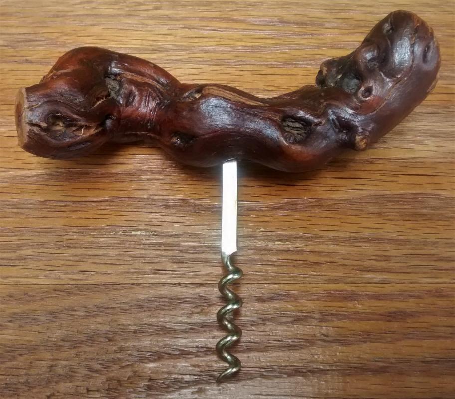 Vintage Corkscrew Grapevine Handle 6.25