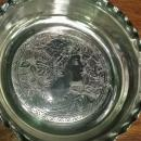 Antique Tufts Silver-Plated Basket #2824 Victorian Lady