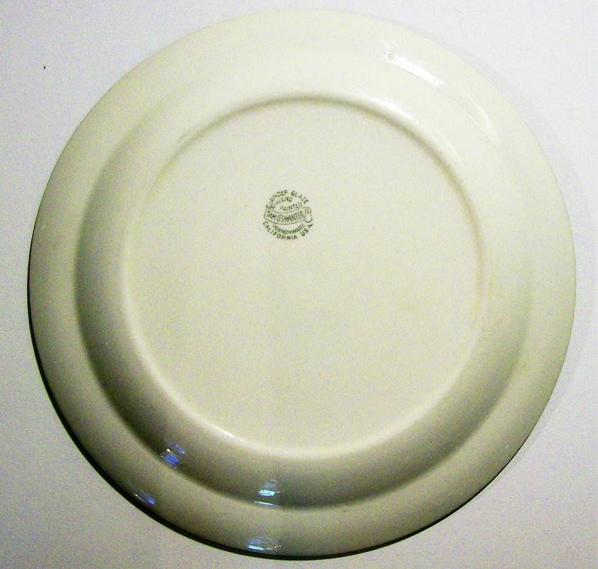 Vintage Vernonware Tam O'Shanter Plate 9.75