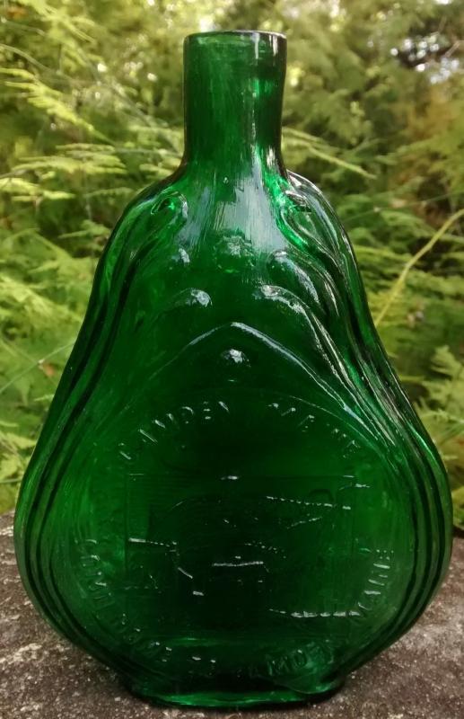 Vintage Clevenger Flask Camden Maine Emerald Green 7