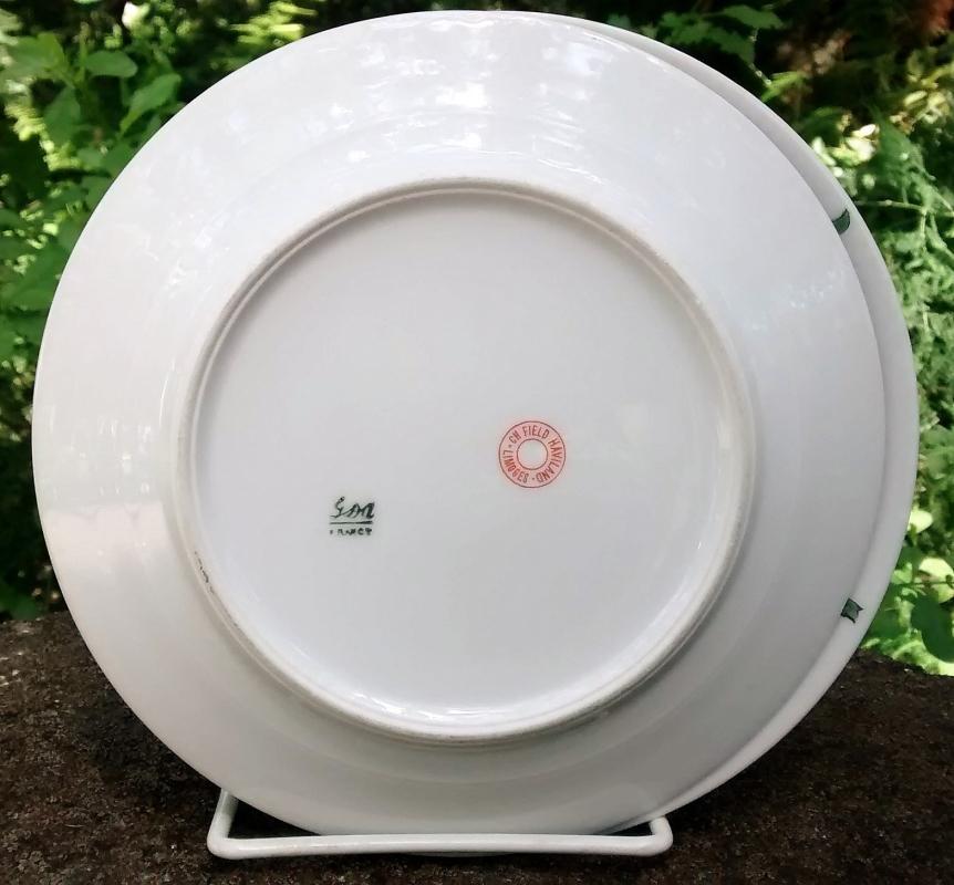 Vintage GDA/Haviland CHF1572/1616 Plate Pair 6.5