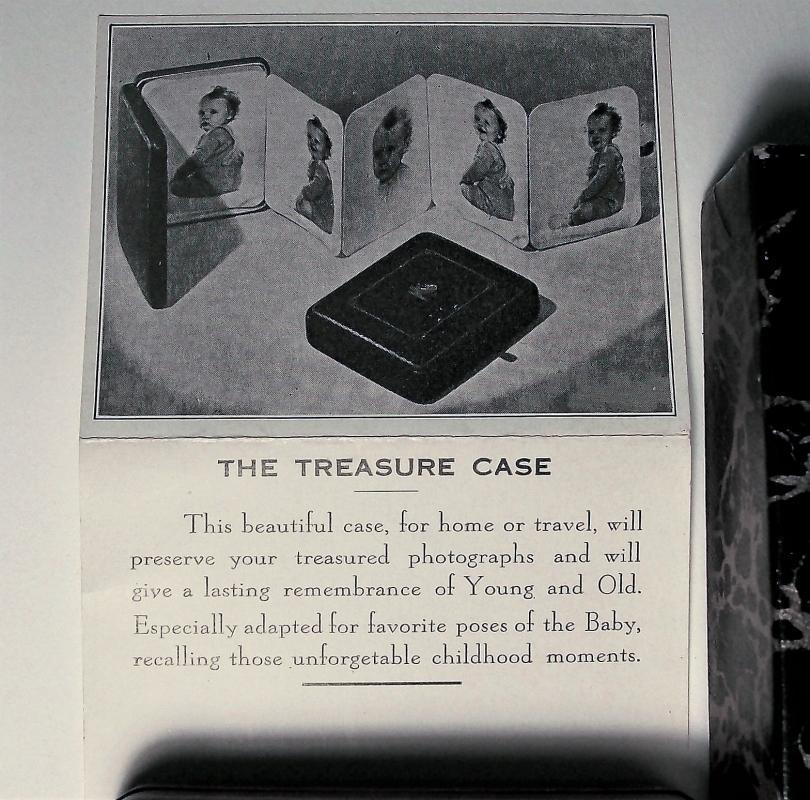 Vintage Treasure Case Photo Album w/ Box & Brochure Richards/Boston