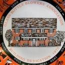 Vintage Glass Bottle Blowers Association Commemorative Dish 1975 7.5