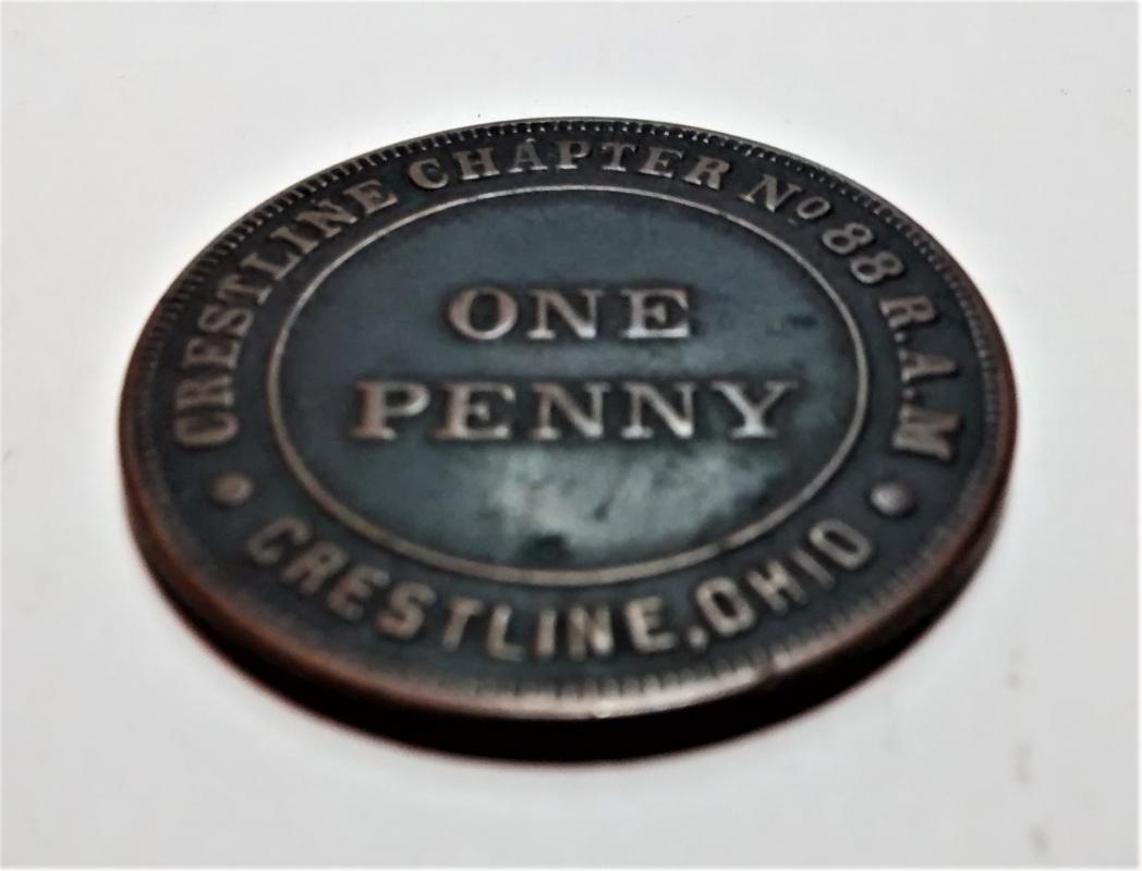 Antique Masonic Chapter Penny Ohio Chapter No. 88 Crestline