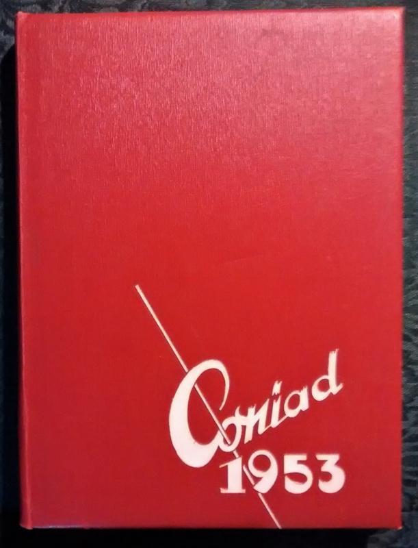 Vintage Yearbook 1953 Cony High School Augusta Maine Coniad