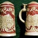 Vintage German Beer Stein Salt & Pepper Shakers 1940s-50s