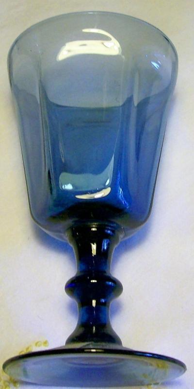 Vintage Lenox Antique Wine Glass Set/3 Dark Blue 1974-89 AS IS