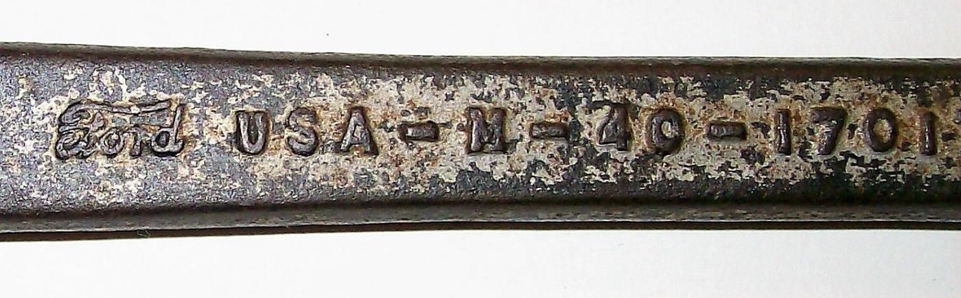 Vintage Ford Wrench M-40-17017 Spark Plug/Headbolt Ca. 1930 Steel