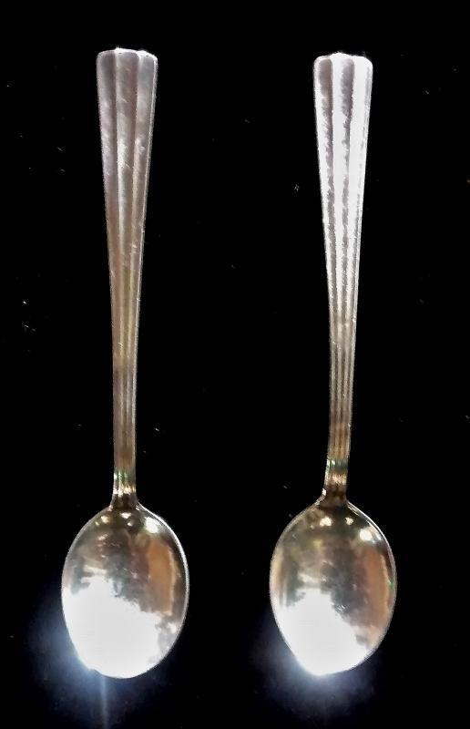 Vintage MCM Jansson Demitasse Spoon Pair Sweden Scandinavia 1950s-60s