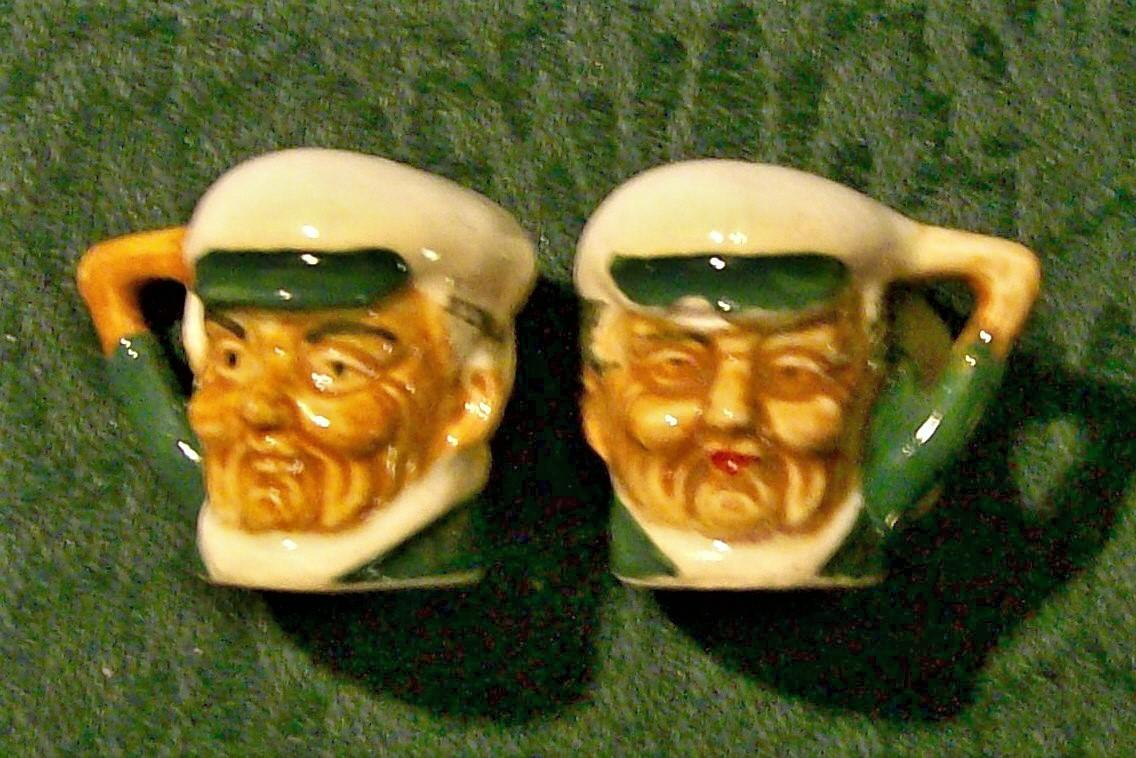 Vintage Miniature Toby-Style S&P Shakers 1930's Japan