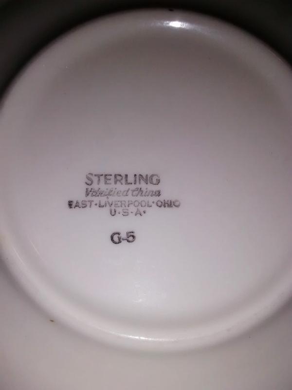 Vintage Sterling STR8 Red Flower Restaurant Plate Set/4 1969