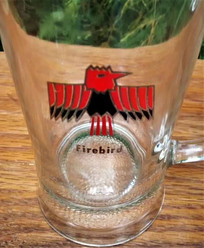 Vintage Pontiac Firebird Glass Mug/Stein 1967-68