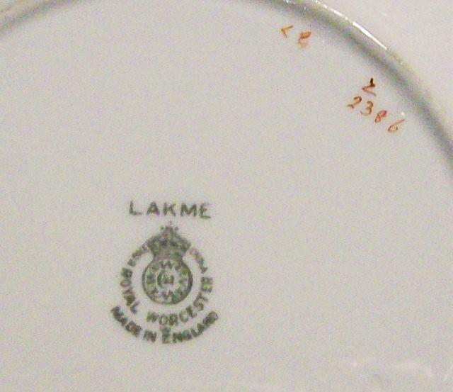 Vintage Royal Worcester Lakme #Z2386 Plate Pink/Gray Birds/Flowers 6