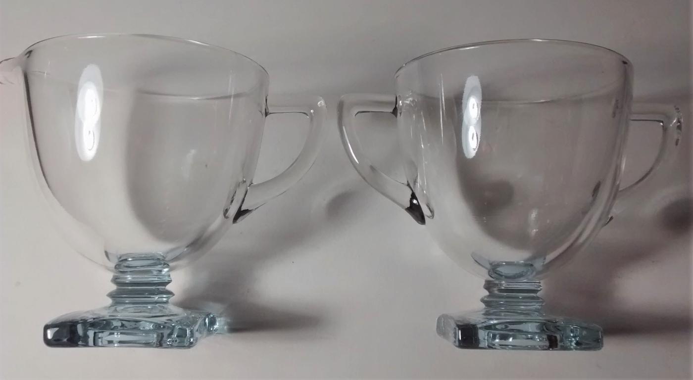 Vintage Fostoria #4020 Wisteria Footed Cream & Sugar Set Neodymium Glass