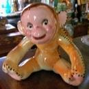 Vintage Smiling Monkey Toy Planter #5532 Ca. 1950s