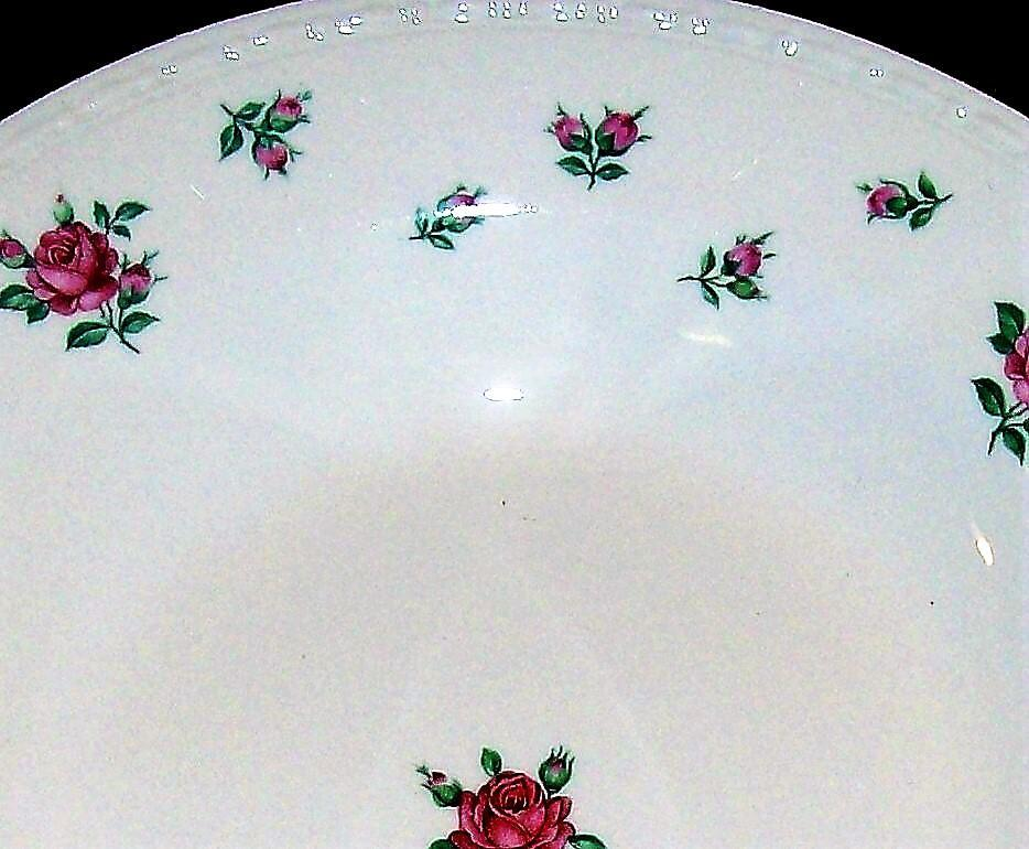 Vintage Laughlin Rambler Rose Plate Pair 10