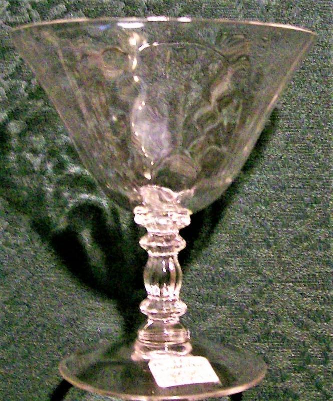 Vintage Cambridge Caprice #300 Champagne/Sherbet Pair Clear 6 Oz. 1936-58