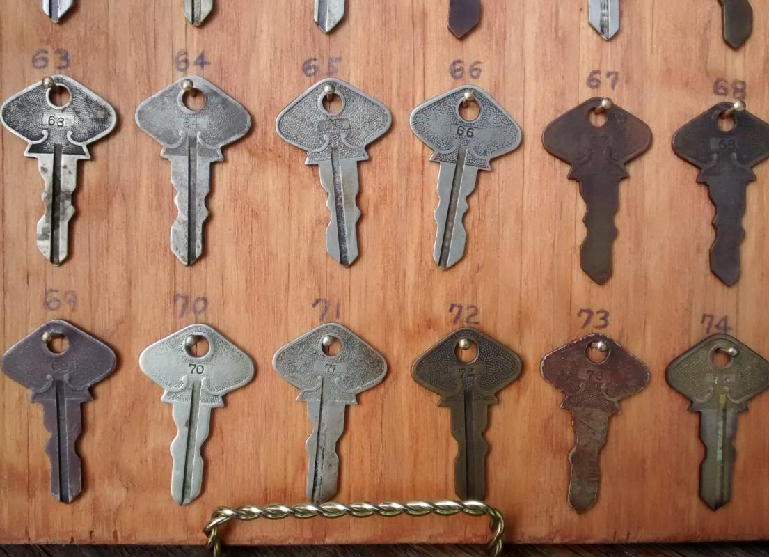 Antique Ford Model T Key Collection 1908-27 Complete on Board