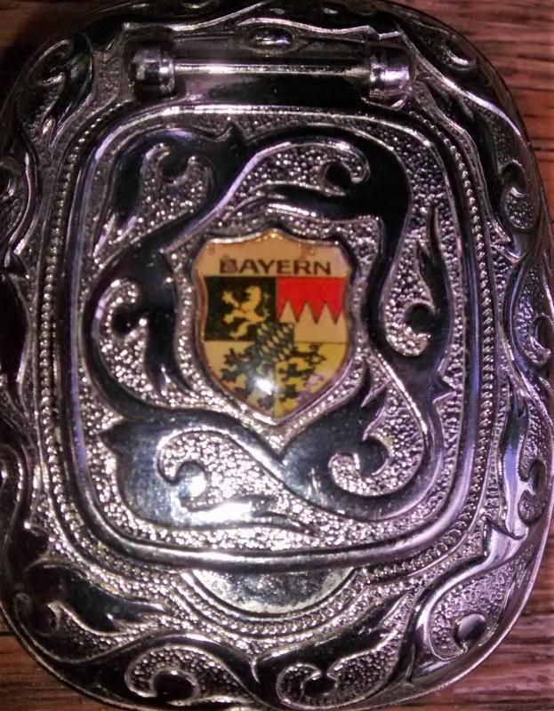 Vintage German Souvenir Pocket Ashtray Bavaria 1950s