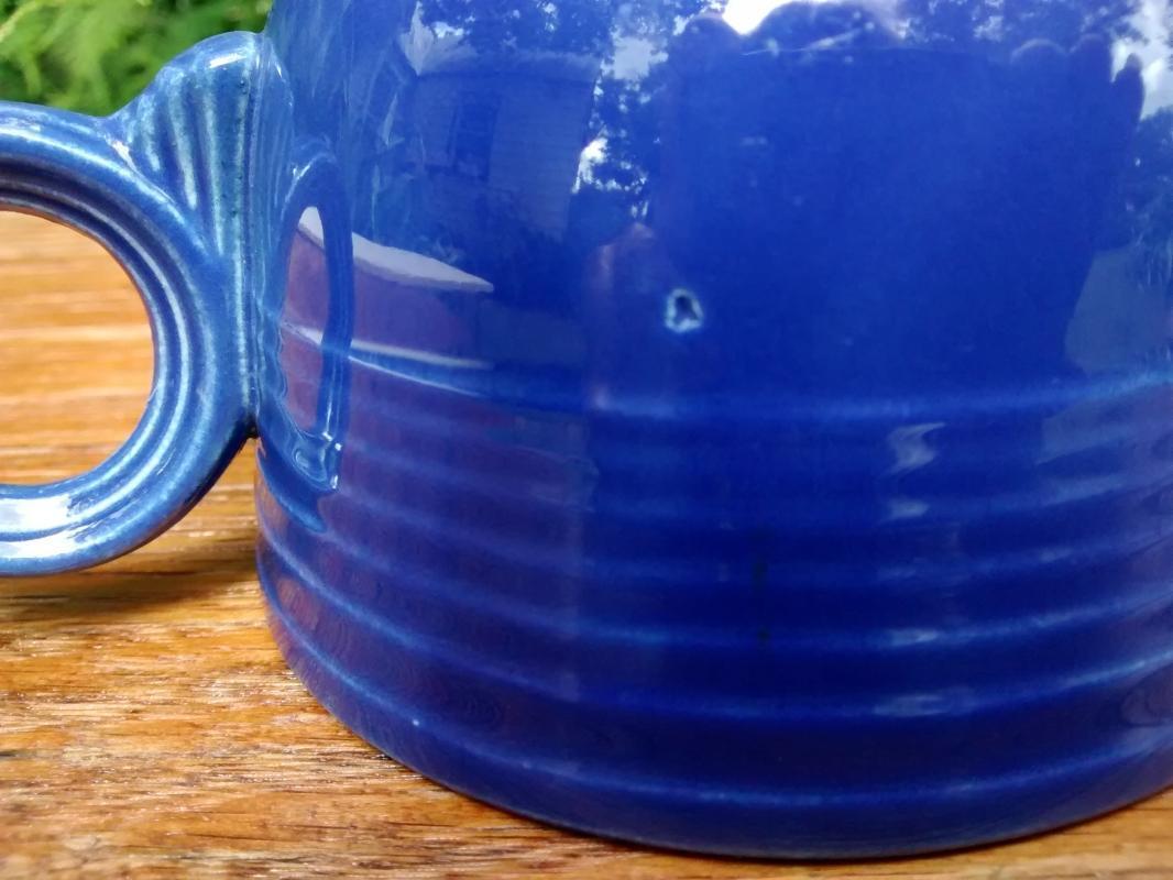 Vintage Laughlin Fiesta Footed Cup & Saucer Original Cobalt Blue 1930's+