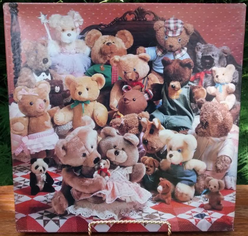 Vintage Springbok Jigsaw Puzzle #2114 Best of Friends Teddy Bears 500+ Pcs Complete w/Box