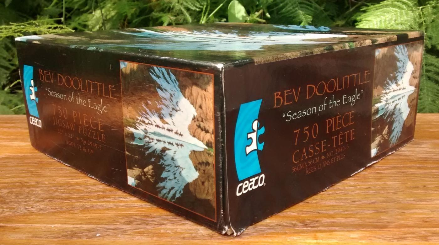 Vintage Ceaco Jigsaw Puzzle #2949-5 Season of the Eagle Bev Doolittle 750 Pcs Complete w/Box