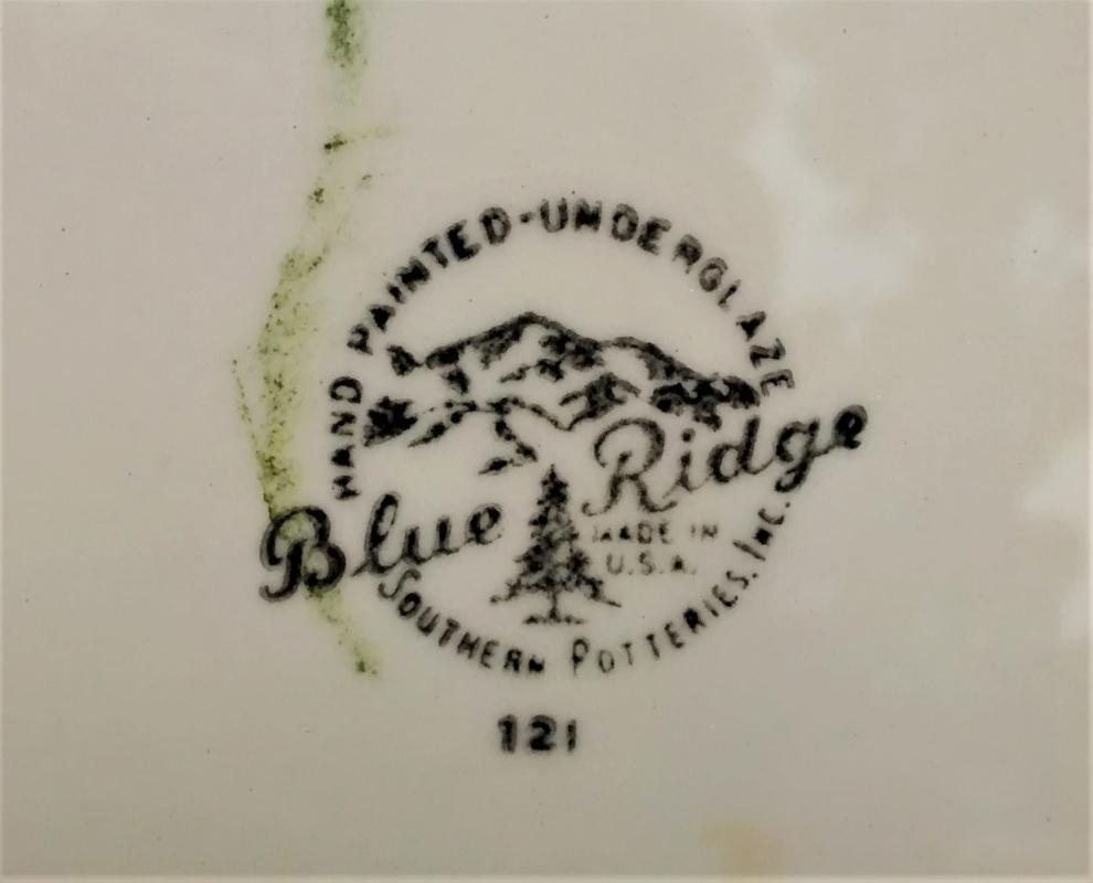 Vintage Blue Ridge Weathervane Plate 9.5