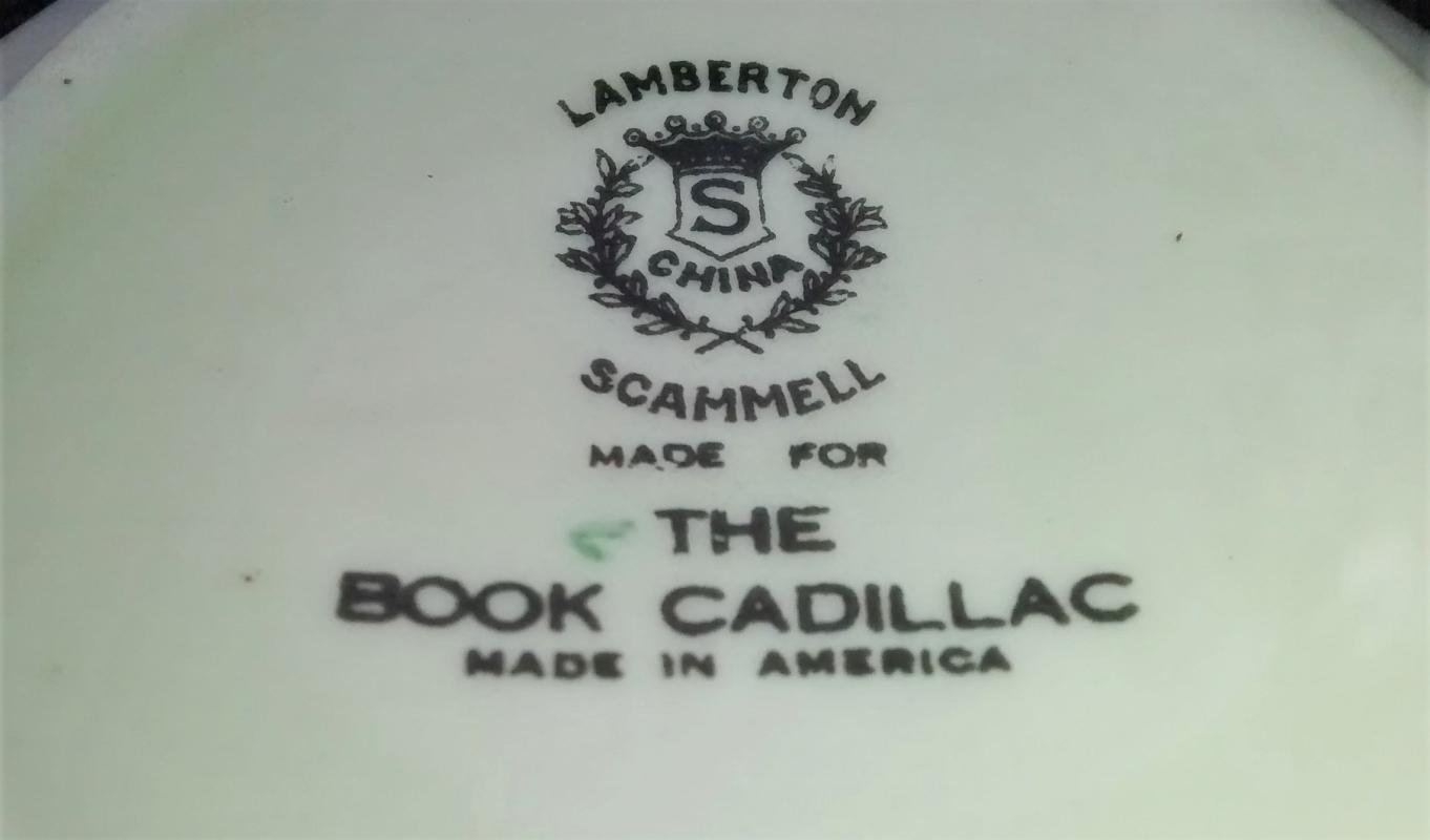 Vintage Book Cadillac Hotel Detroit Scammell Lamberton Soup Cup 1931-54 HTF