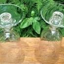 Vintage Tiffin Kingsley #17392 Juice Tumbler Pair Clear Cut