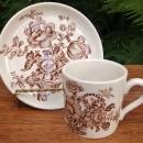 Vintage Royal Crownford/Weatherby Charlotte Demitasse Cup & Saucer Brown