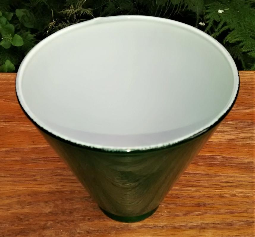 Antique/Vintage Emeralite Green Lamp Shade Conical 5