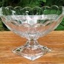 Antique Heisey #8025 Banded Diamond Flute Compote EAPG Ca. 1910 Soda Fountain