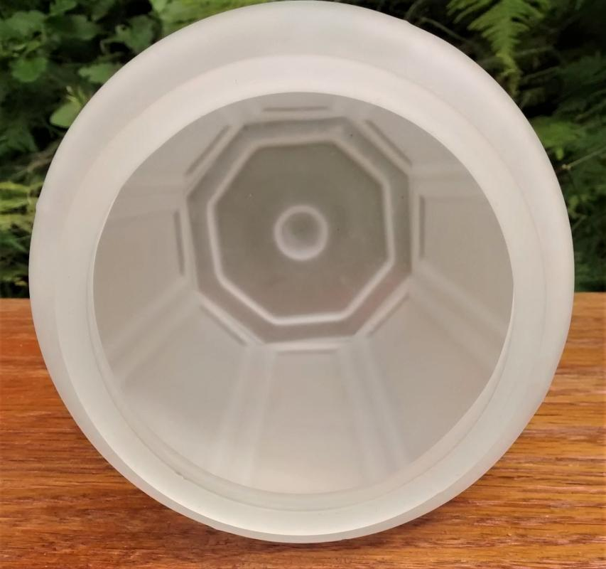 Vintage Frosted Glass Octagon Shade Elongated Panels 4