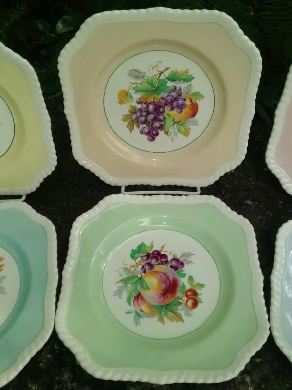 Vintage Johnson Brothers California Plate Set/6 7.5