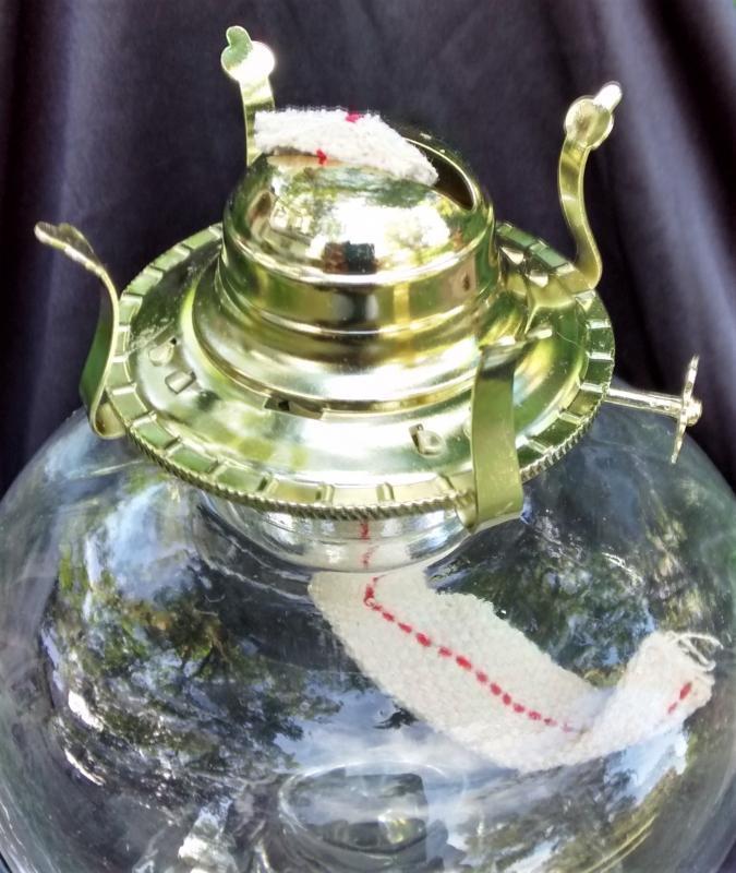Vintage Early American Prescut Lamp Star of David 1960s Oil/Kerosene NOS