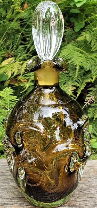 Vintage Aseda MCM Decanter w/Stopper Swedish Art Glass