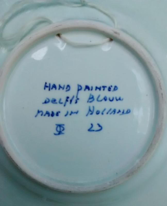 Vintage Holland Delfts Blauw/Blue Shallow Bowl