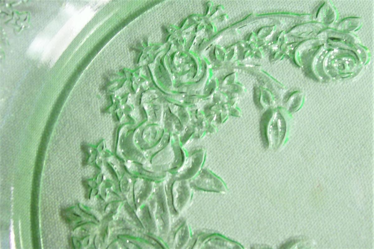 Vintage Federal Sharon/Cabbage Rose Plate Green 7.25