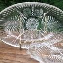 Vintage Hocking #124 Relish Dish Pair Fronds/Beads