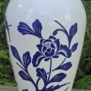 Vintage Hocking Vitrock Vase Blue Birds & Blossoms 9