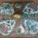 Antique Chinese Rose Medallion Lid for Serving Dish 1800s