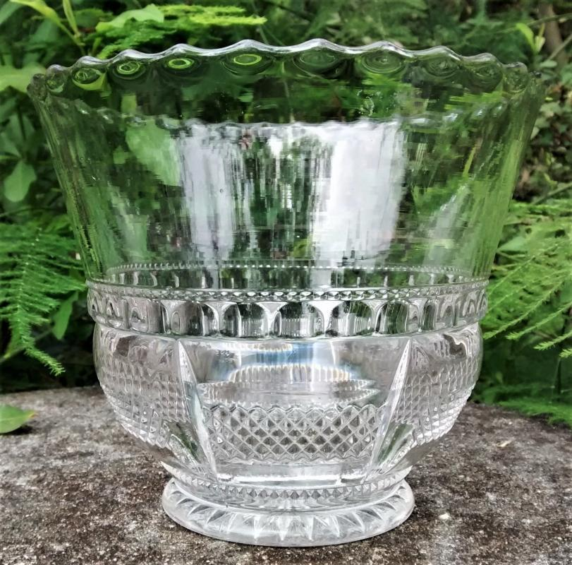 Antique Columbia Ice Bucket EAPG Tarentum 1899 Clear