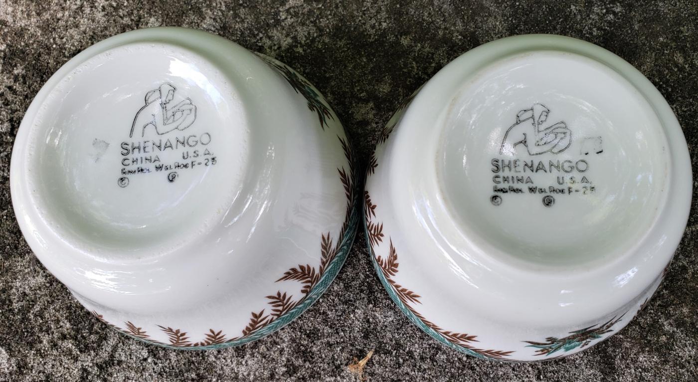 Vintage Shenango Metarie/Metairie Restaurant Soup Cup Pair 1967 3.75